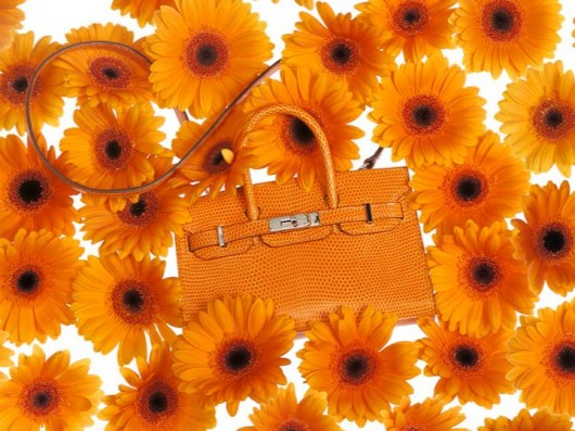 Hermès Tiny Birkin in Orange Lizard