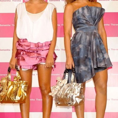 Сёстры Ноулз продвигают бренд Samantha Thavaza