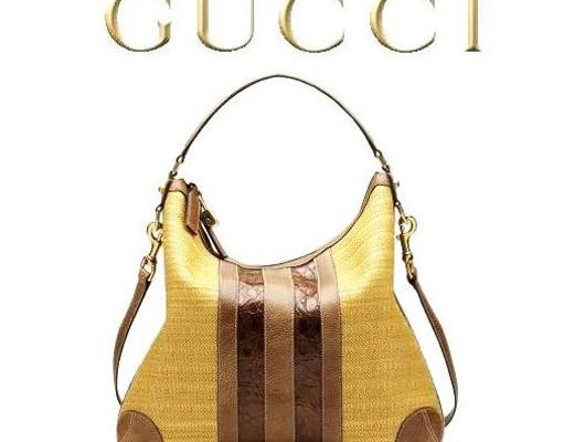 Соломенная сумка от Gucci