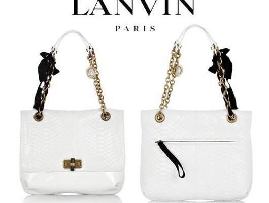 Белоснежный питон от Lanvin