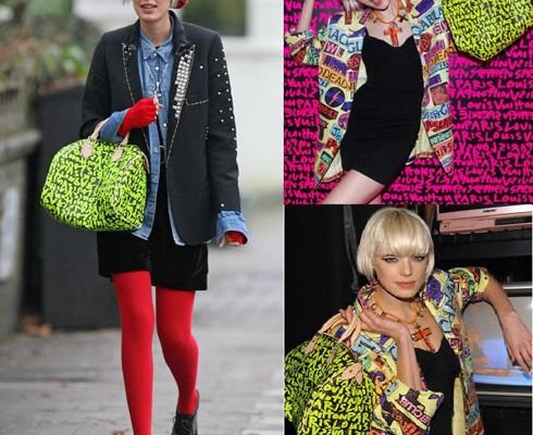 Супермодель Агнесс Дейн с сумкой от Louis Vuitton