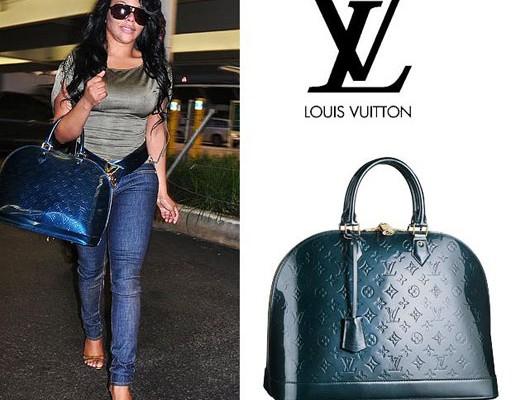 Лил Ким с сумкой от Louis Vuitton