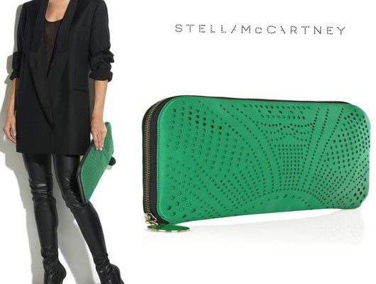 Изумрудный клатч от Stella McCartney