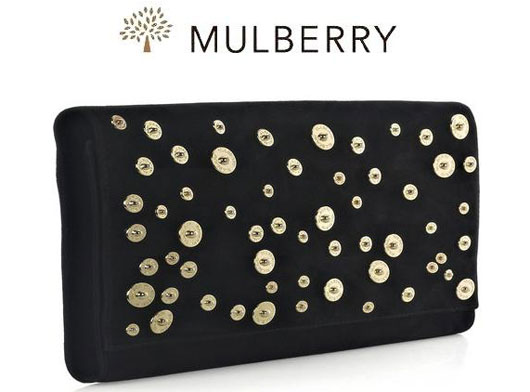 Замшевый клатч от Mulberry