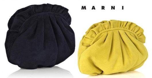 Marni: роскошный замшевый поч