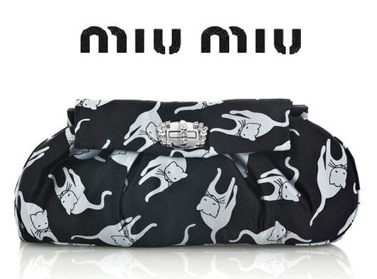Кошачий клатч от Miu Miu