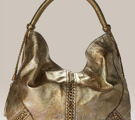 Metallic Leather Hobo от Roberto Cavalli