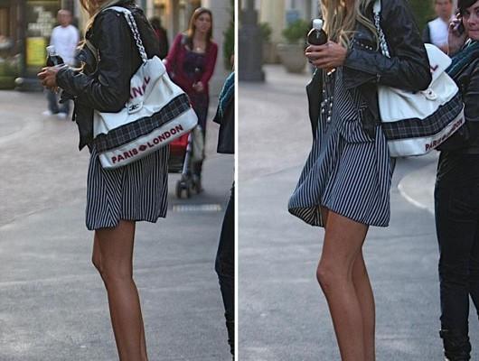 Стефании Пратт с необычной сумкой от Chanel