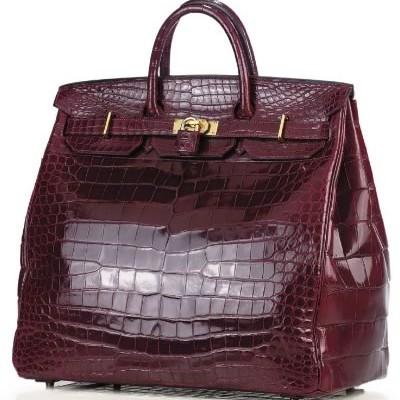Hermes: сумка Crocodile HAC Birkin