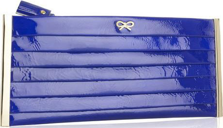 Anya Hindmarch: Pleated Patent Clutch