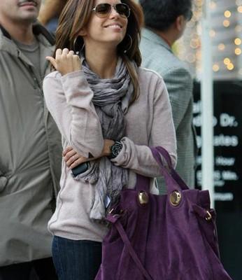 Eva Longoria и её Gustto Brescia Bag